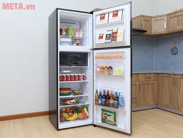 Tủ lạnh Sharp inverter SJ-X346E-SL có dung tích lớn, ngăn chứa rộng rãi