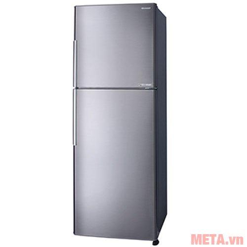 Tủ lạnh Sharp inverter SJ-X346E-SL có cửa tủ làm bằng kim loại