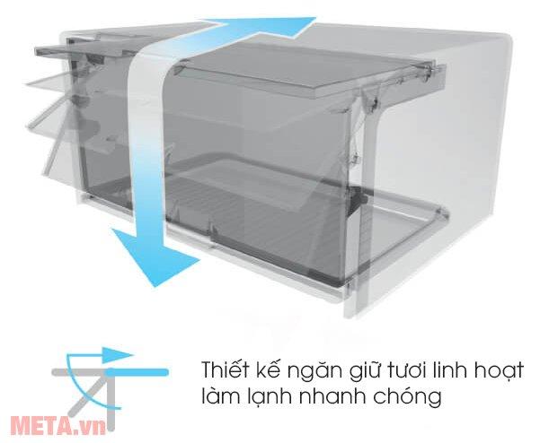 Tủ lạnh Sharp Inverter SJ-X316E-SL có ngăn giữ tươi linh hoạt