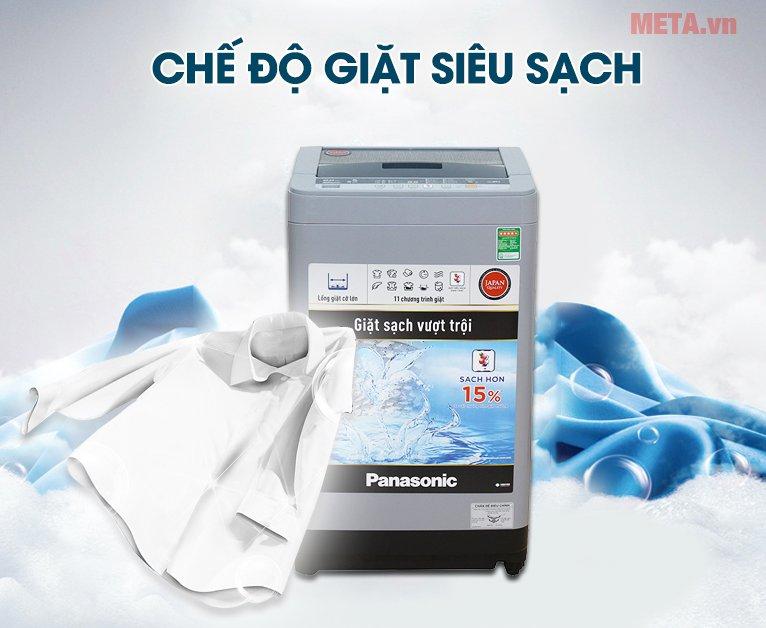 Máy giặt Panasonic 8kg NAF80VS9GRV giúp giặt siêu sạch