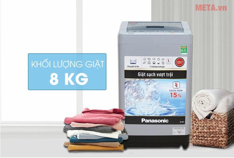 Máy giặt Panasonic 8kg NAF80VS9GRV với khối lượng giặt 8kg
