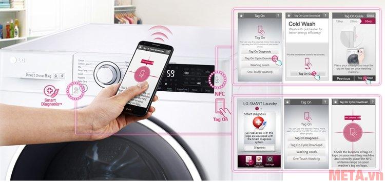 Công nghệ chuẩn đoán thông minh của máy giặt LG F2514DTGW