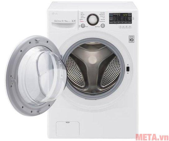 Máy giặt cửa trước LG F2514DTGW kết hợp cả giặt sấy