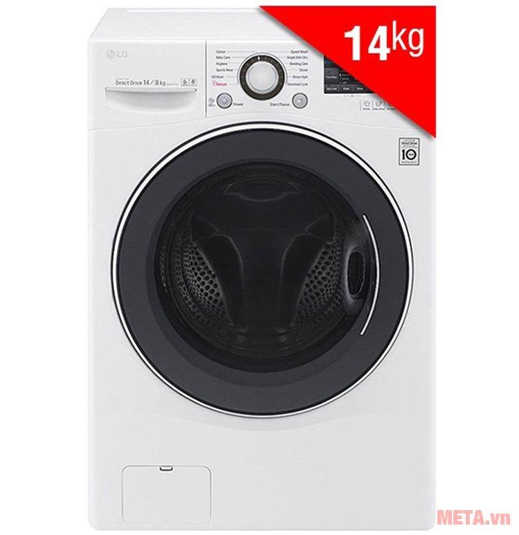Máy giặt LG F2514DTGW có khối lượng giặt là 14kg