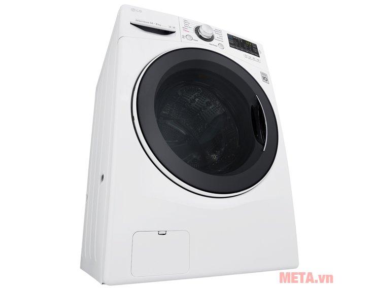 Lồng máy giặt LG F2514DTGW có khả năng khử mùi, diệt khuẩn