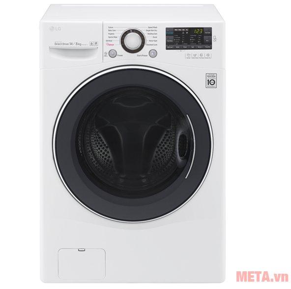 Máy giặt LG F2514DTGW với thiết kế màu trắng tao nhã