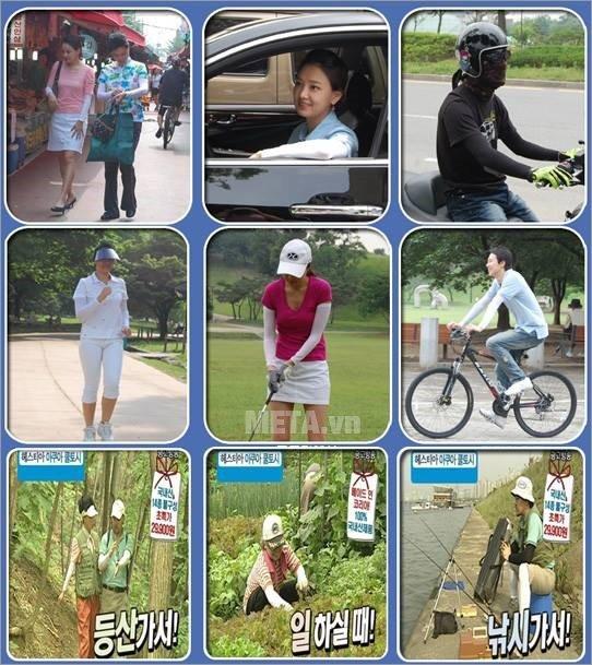 Găng tay chống nắng Aqua X Hàn Quốc sử dụng cho nhiều mục đích khác nhau