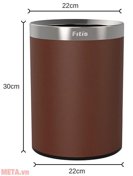Kích thước của thùng rác 2 lớp Dual kiểu Âu Fitis ROM1-904