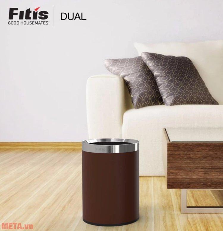 Thùng rác 2 lớp Dual kiểu Âu Fitis ROM1-904 sử dụng ở phòng khách vô cùng sang trọng