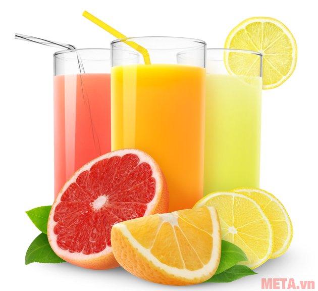 Máy ép trái cây Sunhouse SHD5520 có thể xay được nhiều loại nước ép khác nhau