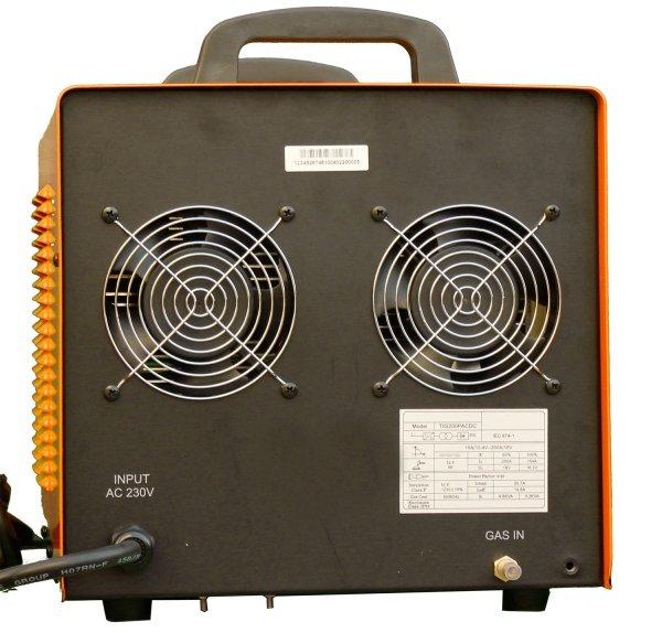 Máy hàn Jasic TIG 200P AC/DC (R60) có hai quạt tản nhiệt phía sau máy