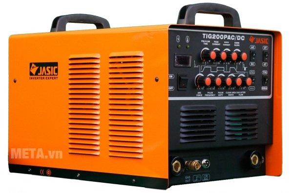 Jasic TIG 200P AC/DC (R60) có thể hàn được thép, hợp kim thép, đồng, Titan, nhôm, hợp kim của nhôm, magie...