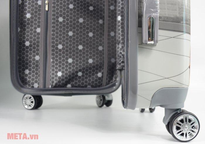 Vali nhựa VLN PC-03 20 inch có bánh xe giúp dễ dàng di chuyển