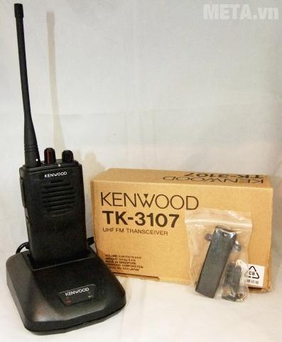 Bộ đàm Kenwood TK 3107 với 16 kênh nhớ, đáp ứng nhu cầu sử dụng