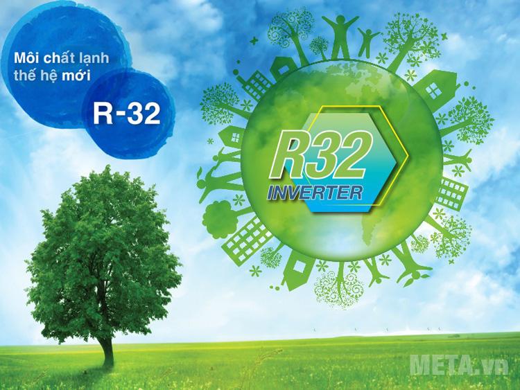 Gas sử dụng R - 32 thân thiện với môi trường