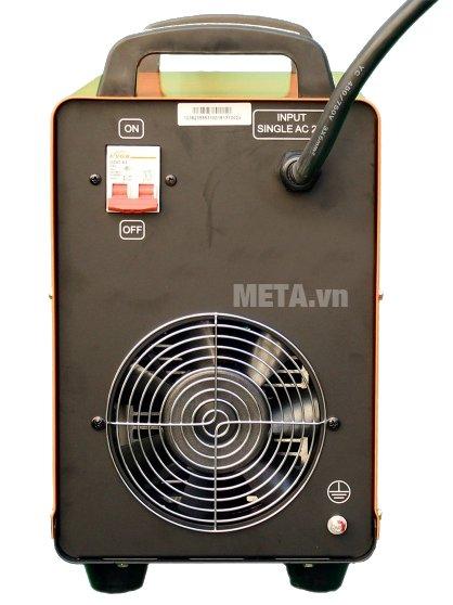 Mặt sau của máy hàn bán tự động Jasic MIG 250F (J44) có quạt tản nhiệt lớn