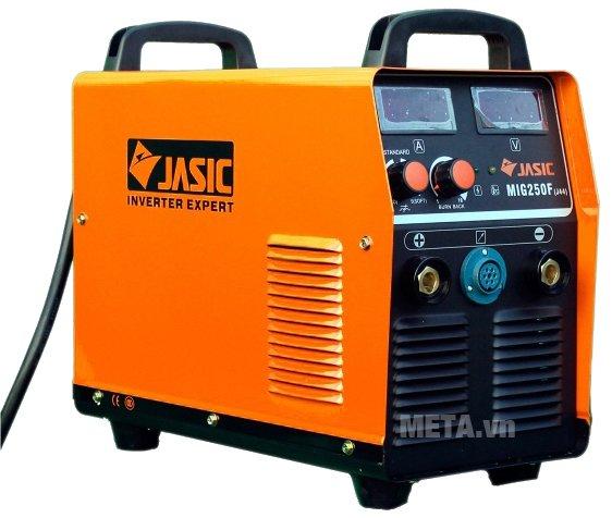 Máy hàn bán tự động Jasic MIG 250F (J44) có vỏ màu cam nổi bật