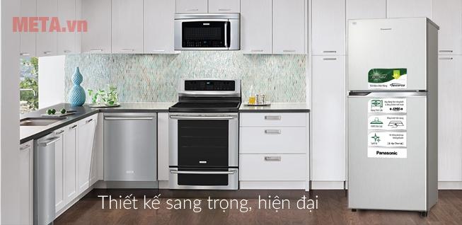 Tủ lạnh Panasonic inverter 234 lít NR-BL267VSV1 có thiết kế sang trọng, hiện đại