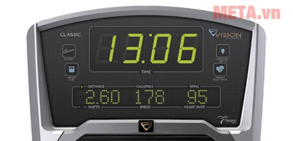 Các thông số thời gian, quãng đường, lượng calores được hiển thị ngay trên màn hình