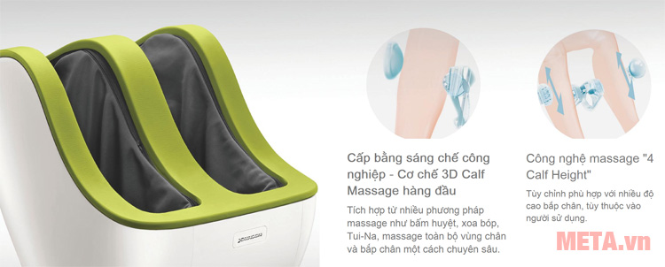 Máy massage chân Lớp Chid Pad tích hợp nhiều phương pháp massage