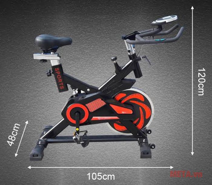 Kích thước xe đạp YB-7800