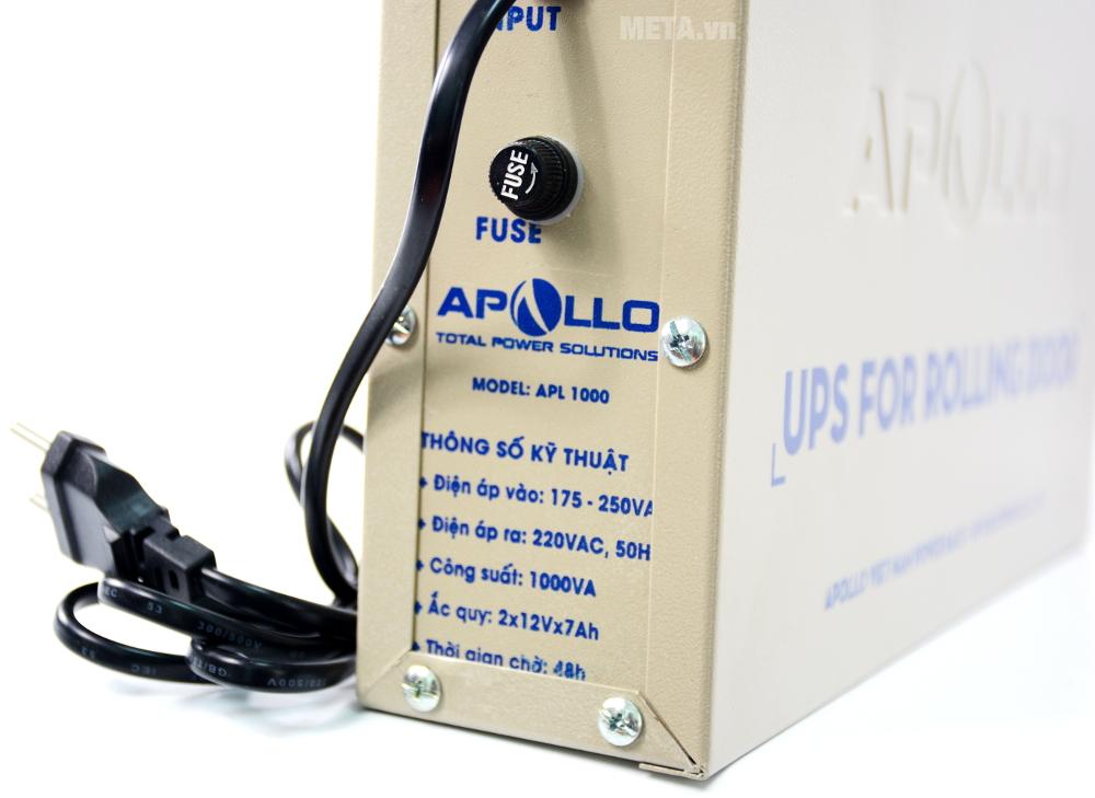 Thông số kỹ thuật của bộ lưu điện cho cửa cuốn Apollo APL1000