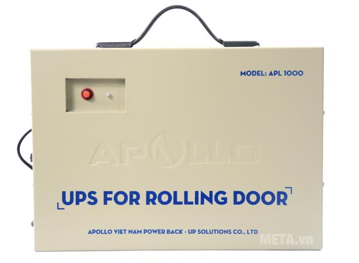 Bộ lưu điện cho cửa cuốn Apollo APL1000 có thể bảo vệ khi quá tải, quá nhiệt, ngắn mạch.