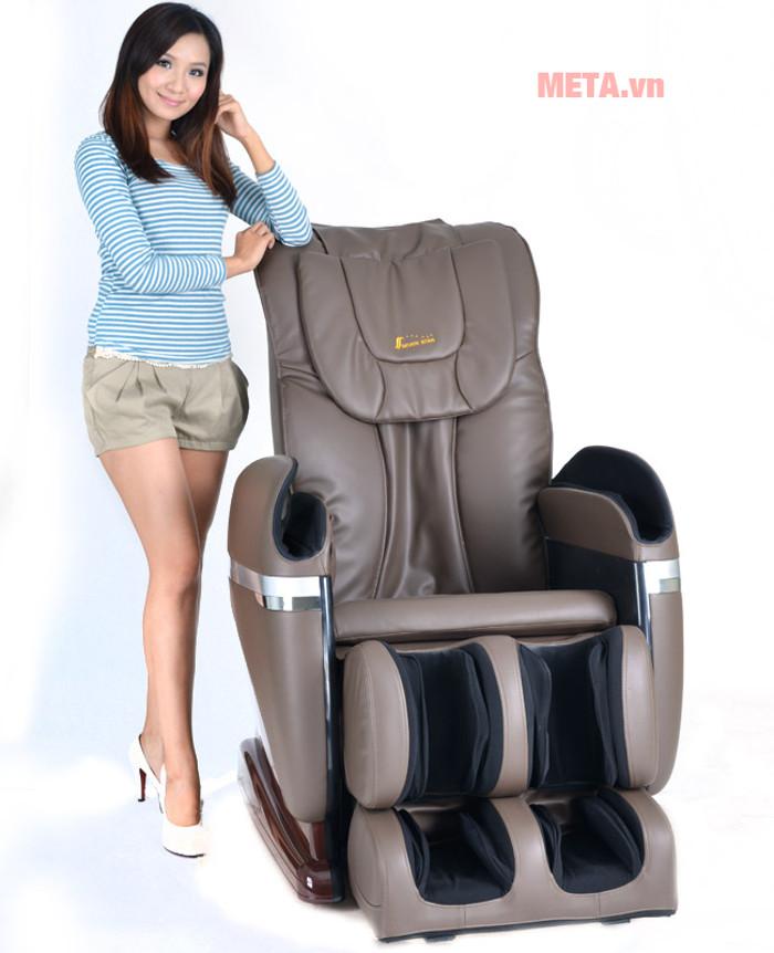 Ghế massage toàn thân Tokuyo TC 336 có thể massage từng vị trí cụ thể trên lưng