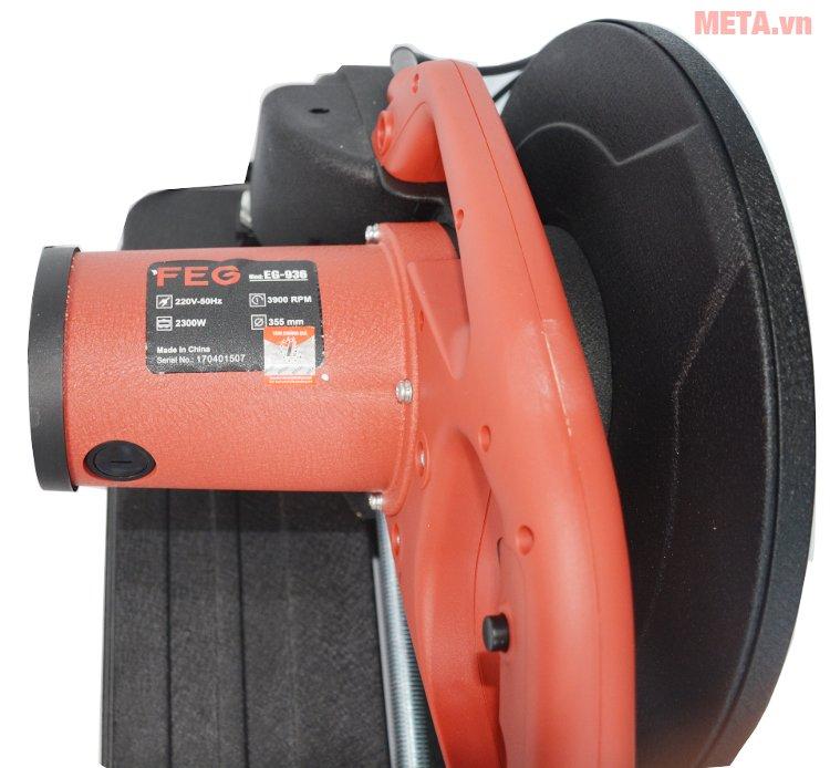 Máy cắt sắt FEG 936 in thông số trên thân máy