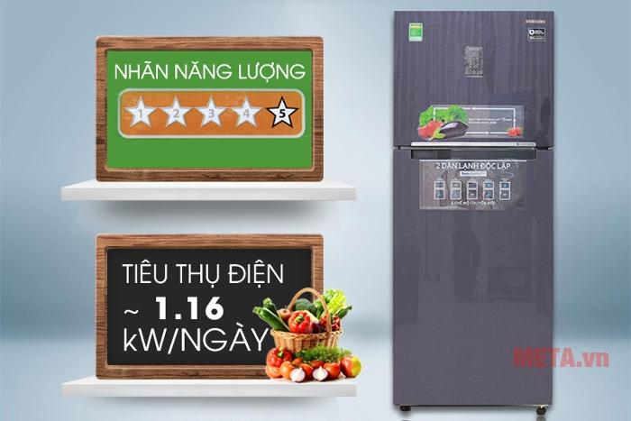 Với tủ lạnh Samsung 364 lít RT35K5532UT/SV chi phí điện năng nhà bạn được tiết kiệm tối đa