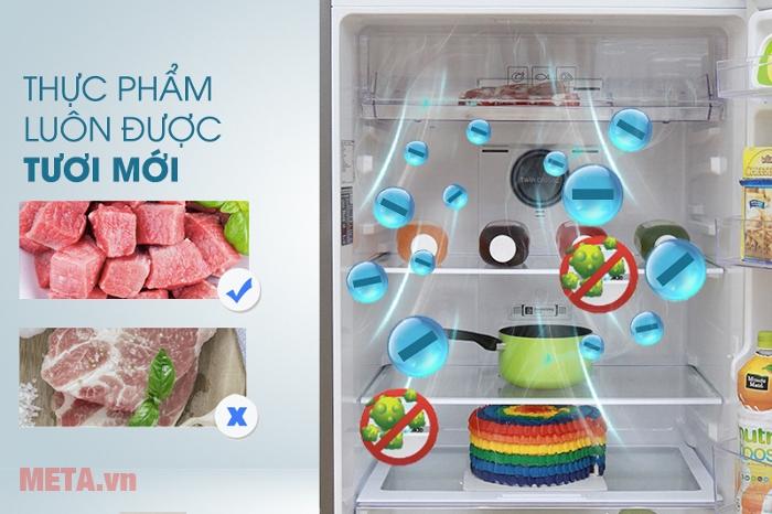 Tủ lạnh Samsung 364 lít RT35K5532UT/SV giúp thực phẩm luôn tươi mới