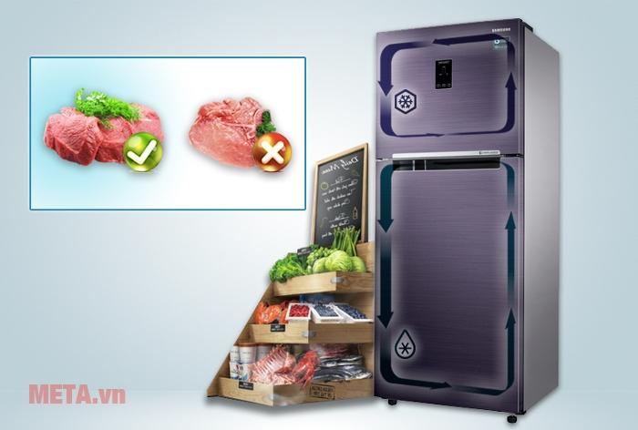 Tủ lạnh Samsung 364 lít RT35K5532UT/SV có công nghệ 2 dàn lạnh độc lập