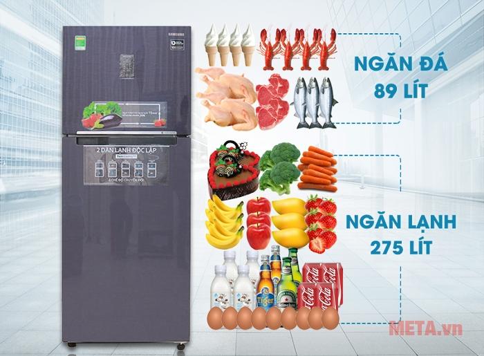 Tủ lạnh Samsung 364 lít RT35K5532UT/SV phù hợp cho gia đình từ 5 -  7 người