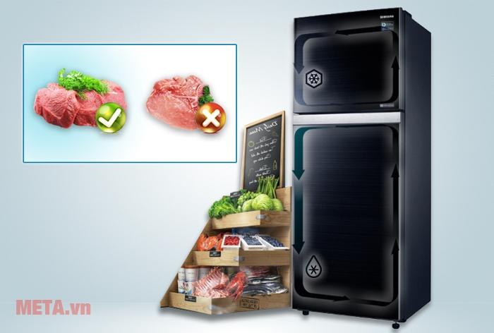 Tủ lạnh Samsung RT38K5032GL/SV có dung tích lớn cùng hệ thống làm lạnh kép là lựa chọn thích hợp cho gia đình bạn