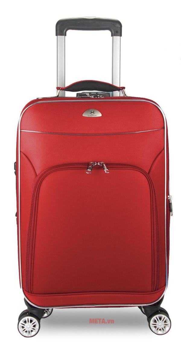 Vali 4 bánh xoay VLX015 20 inch với thiết kế màu đỏ hiện đại.