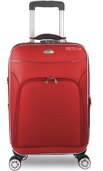 Vali 4 bánh xoay VLX015 28 inch với màu đỏ sang trọng.
