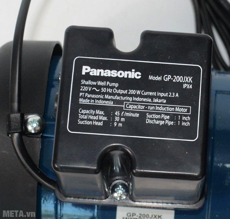 Thông số của máy bơm nước Panasonic GP-200JXK
