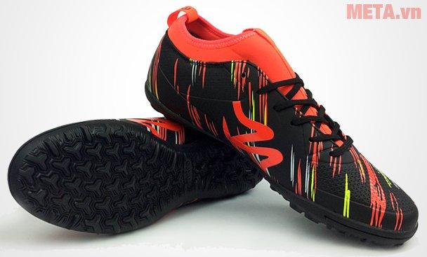 Giày đá bóng Mitre 160930 màu đen cam