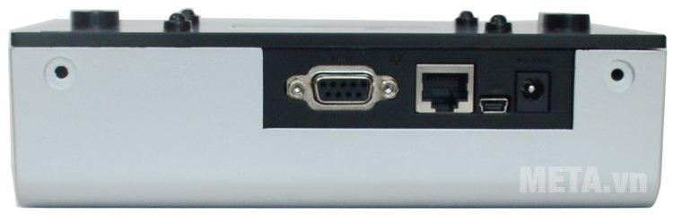 Cổng mạng, cổng cắm nguồn, cổng kết nối dữ liệu của máy chấm công Ronald Jack 4000TID-C