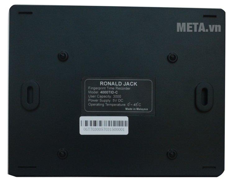 Máy chấm công Ronald Jack 4000TID-C sử dụng nguồn điện 5V DC