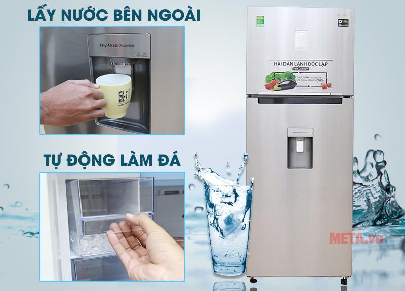 Tủ lạnh Samsung Digital Inverter 451L RT46K6836SL/SV có hệ thống lấy nước từ bên ngoài tiện lợi