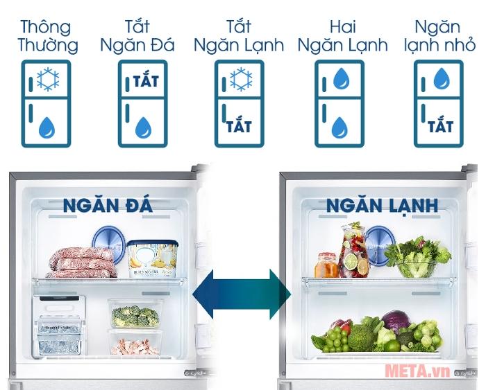 Các chế độ hoạt động của tủ lạnh Samsung Digital Inverter 451L RT46K6836SL/SV