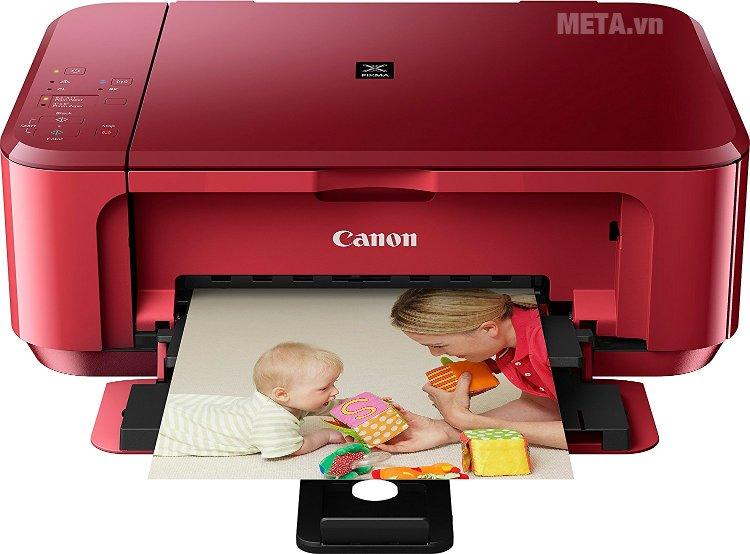 Máy in phun màu đa chức năng Pixma MG3670 màu đỏ