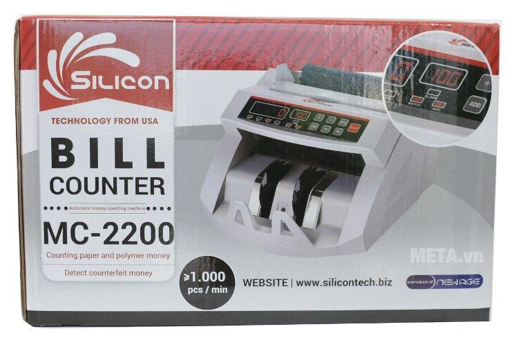 Hộp đựng của máy đếm tiền thế hệ mới Silicon MC-2200