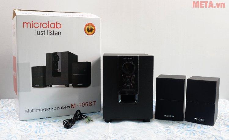 Loa vi tính Bluetooth Microlab M-106BT có hộp đựng sang trọng