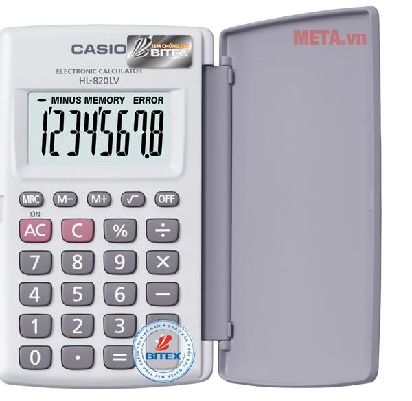 Máy tính Casio HL-820LV-BK/WE màu trắng