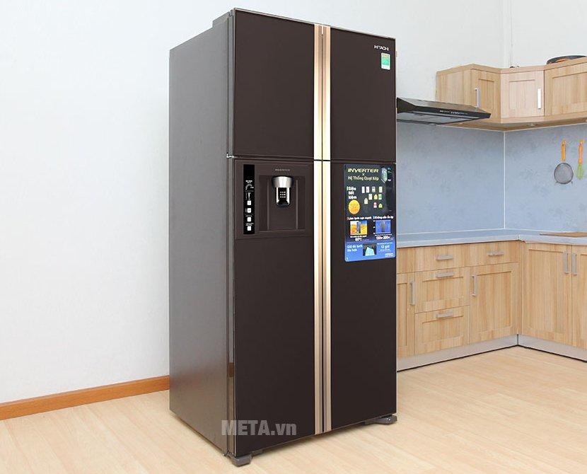 Tủ lạnh Hitachi 540 lít R-W660FPGV3X có thiết kế hiện đại