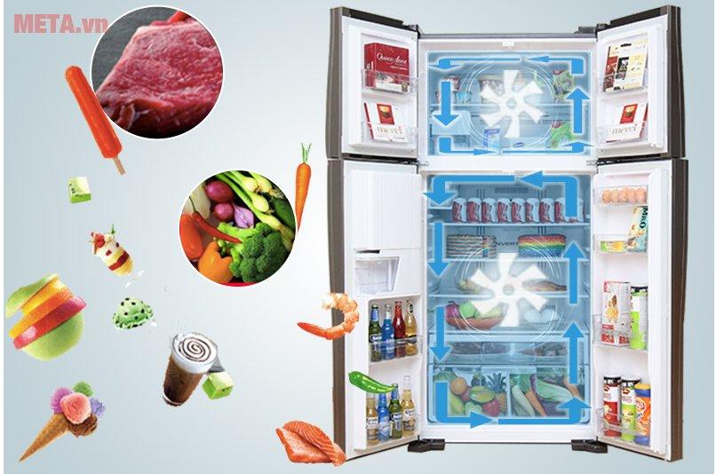 Tủ lạnh Hitachi 540 lít R-W660FPGV3X giúp bảo quản thực phẩm hiệu quả