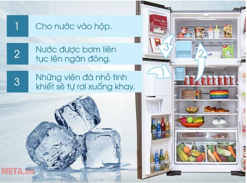 Tủ lạnh Hitachi 540 lít R-W660FPGV3X làm lạnh nhanh