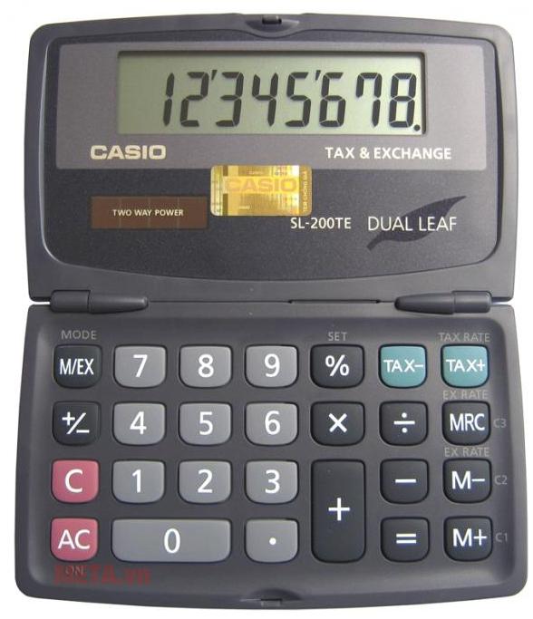 Máy tính Casio SL-200TE